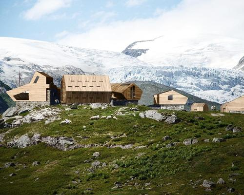 The cabins sit in the shadow of Europe's largest glacier / Snøhetta