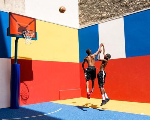 Fashion designer Pigelle creates a dazzling secret basketball court for Paris