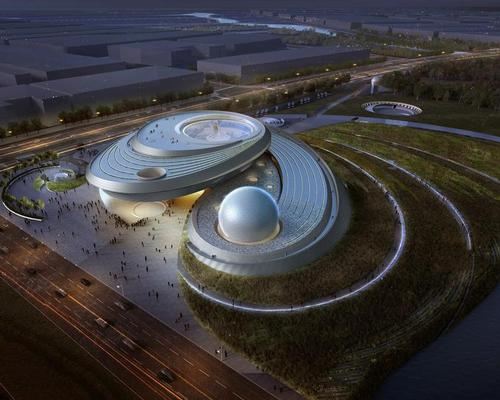 The development – part of the Shanghai Science and Technology Museum – will explore the mysteries of space / Ennead Architects