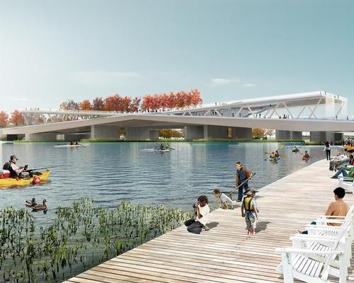 Landscape architects OLIN have designed much of the park's green space / OMA and OLIN