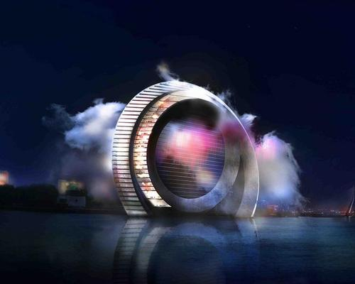 The project will be the world's first wind turbine, hotel and tourist attraction hybrid / Dutch Windwheel Corporation