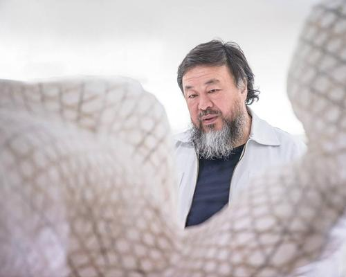 The show is Ai Weiwei's first exhibition of original works in France / Le Bon Marché