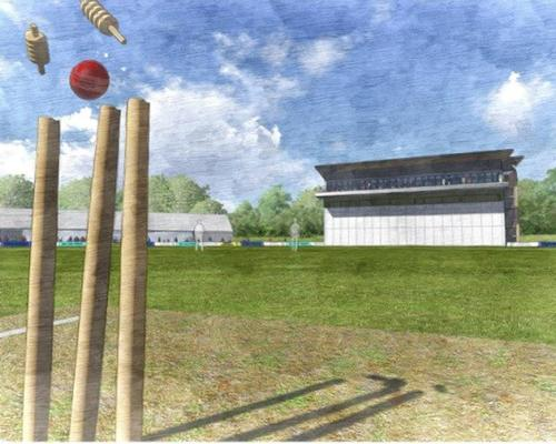 An artists impression of the £2m media centre at the 3aaa County Ground / Derbyshire CCC