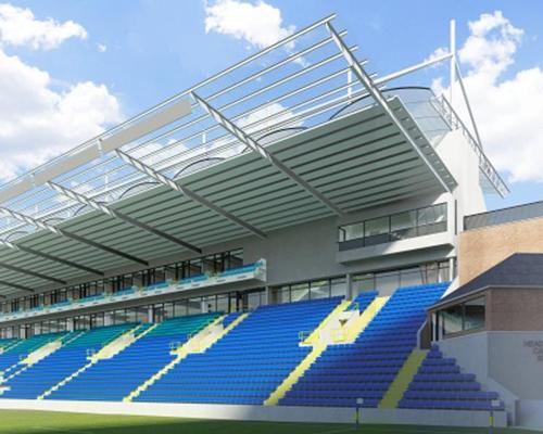 An artist's impression of the rugby stadium's redeveloped North Stand / Headingley Complex