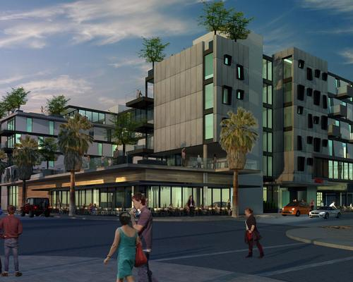 Designed by local architect Chris Pardo, the hotel will be located in the heart of downtown Palm Springs and surrounded by historic desert modern architecture / Chris Pardo
