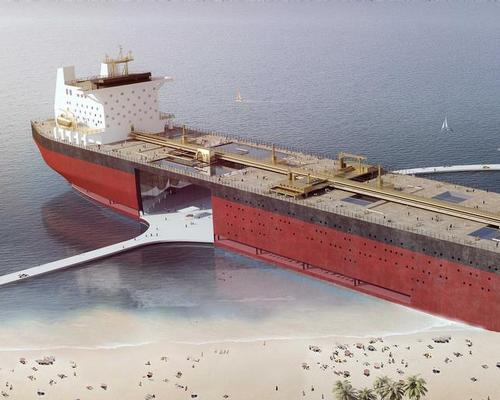 The vision for the tanker includes hotels, restaurants, museums, shops, apartments and cultural space / MISS3