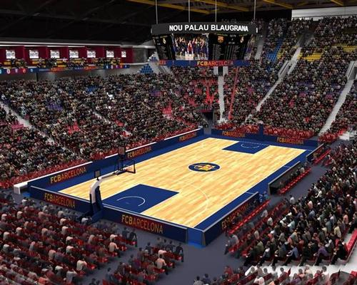 The arena will have three independent areas: a multi-purpose 10,000-capacity pavilion, an auxiliary court with a capacity of 2,000 and an ice rink / Barcelona FC