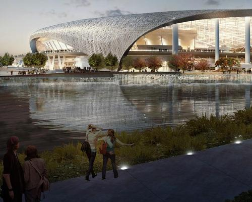 Los Angeles Rams Reveal First Full Look At Sweeping Inglewood Stadium Roof Architecture And Design News Cladglobal Com