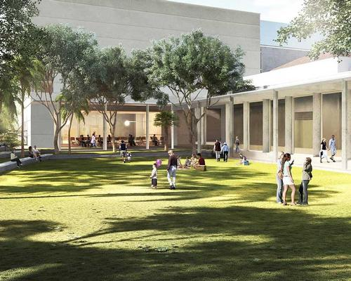 Landscaped gardens and a courtyard play a prominent role in the new design / Foster + Partners