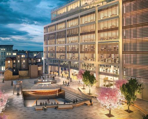 The centre will form part of one of of London's largest cultural squares, which will be bordered by 400,000sq ft of mixed use space  / Galliard Homes