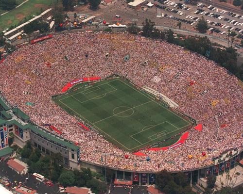 The Rose Bowl hosted the 1994 football World Cup Final – one of many high-profile sporting events to take place there
