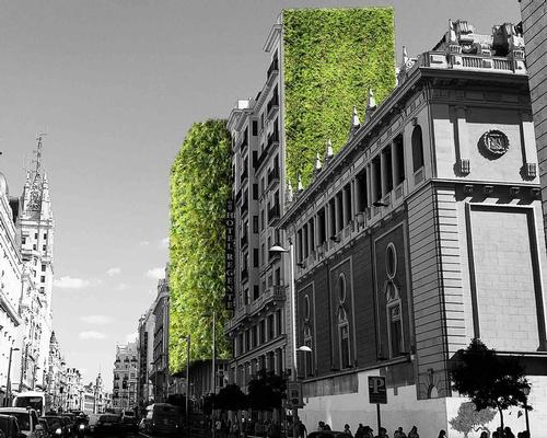 Research undertaken by Arup showed that areas in Madrid which utilised green roofs experienced temperature reductions up to 4.5°C over the summer months / Arup