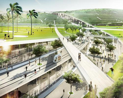 The city will open in 2024, potentially at the same time as the Paris Olympics / Europa City