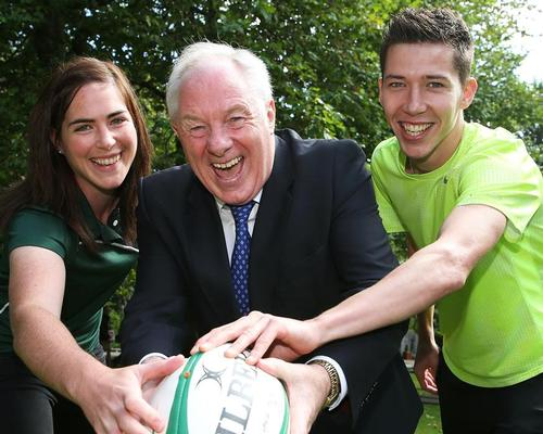Michael Ring (centre) said the funding signalled the government's commitment to sport