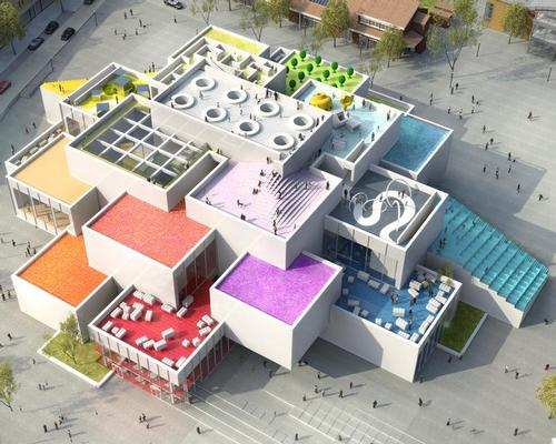 The structure will consist of 21 huge and colourful Lego bricks, built on top of one another / Lego Group/BIG