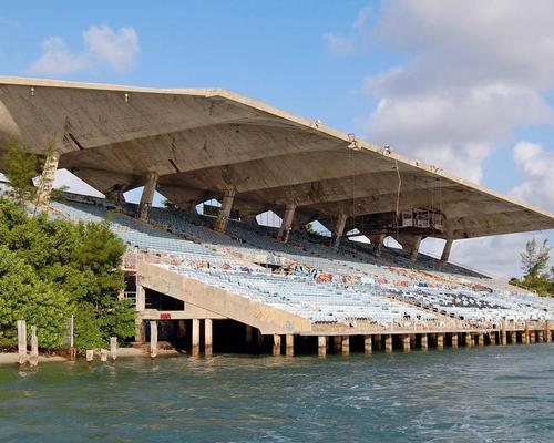 The 6,566-seat arena was the first US stadium built for the purpose of watching powerboat races / Rick Bravo