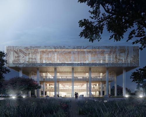 The competition-winning design for the building 'represents the meeting of cultures, generations and histories' / Mecanoo
