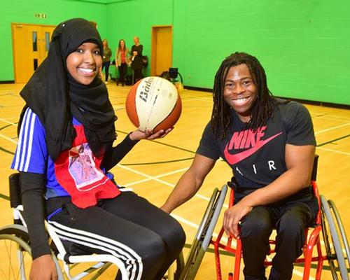 Ade Adepitan (right) is an ambassador for the multi-sport wheelchair / Youth Sports Trust