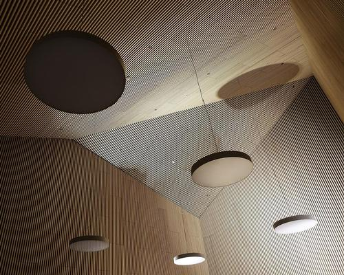 Wood features heavily throughout the design, including in the museum's interiors / Reiulf Ramstad Arkitekter
