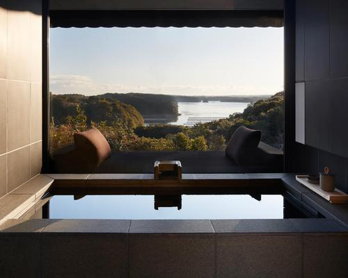 Amanemu adopts a classic Japanese aesthetic in the ryokan tradition with each of the 24 suites and four two-bedroom villas featuring their own onsen