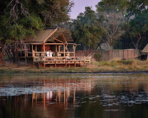 The room terraces look out onto the delta and one of its water channels / Belmond Eagle Island Lodge Botswana