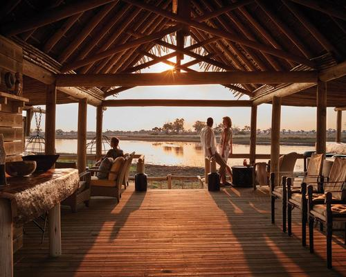 The lodge's public spaces provide social areas for guests to meet before heading out on safari / Belmond Eagle Island Lodge Botswana