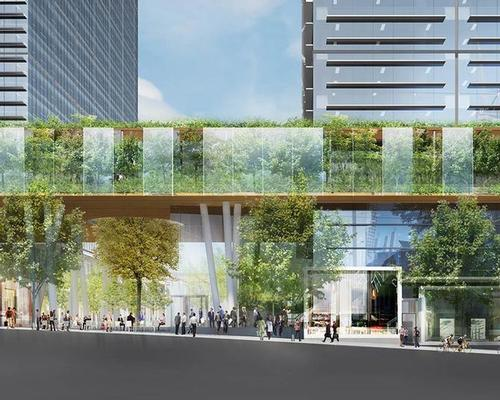 The sky garden will be elevated above Collins Street and a public plaza below / Lendlease