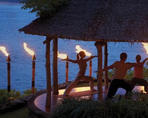 Surrounded by tiki torches, guests are led through Vinyasa postures influenced by the fire element Manipura Chakra, with an aim to induce a state of calm and deep relaxation for a pre-sleep ritual