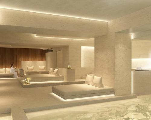 Interior design of the public areas, including the spa, is by French architect and designer Jean-Philippe Nuel / Marriott