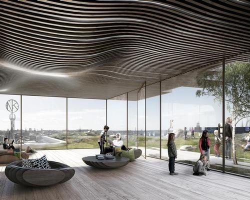 An observation point on the rooftop will allow visitors and residents to relax and look out at the gardens / Schmidt Hammer Lassen Architects