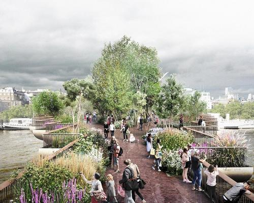 The bridge will be a plant-covered walkway across the River Thames / Garden Bridge Trust