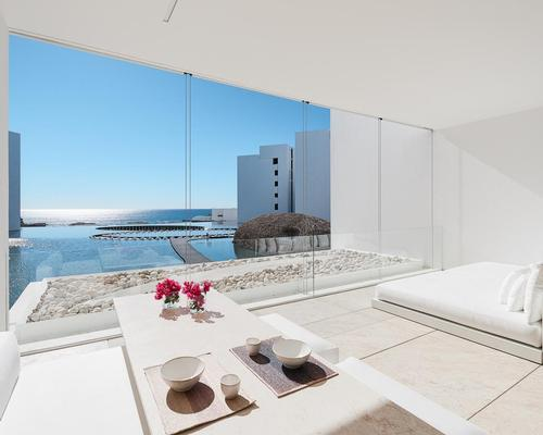 A signature hotel for Mexican architect Miguel Ángel Aragonés, Mar Adentro is designed to encourage guests to contemplate the immensity of the ocean