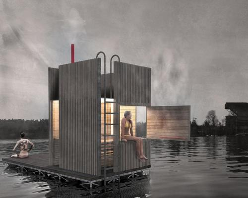 The sauna provides respite and relaxation for residents in Seattle / goCstudio