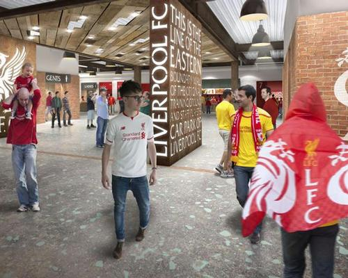 An artist's impression of one of the redesigned concourses / KSS Groups