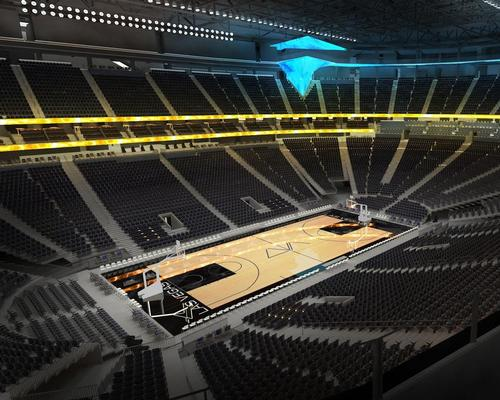 The arena, which will host basketball games, has a capacity for 20,000 spectators / Populous