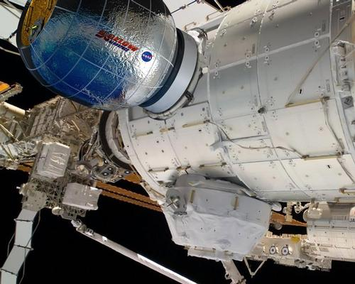 The inflatable Bigelow Expandable Activity Module (BEAM) will be attached to the International Space Station for testing, and could be the leisure space of the future / Bigelow Aerospace