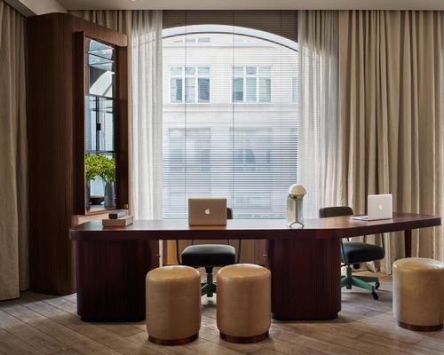 The interiors have been informed by the Scandinavian principles of light and space, with high ceilings and oversized windows / Design Hotels