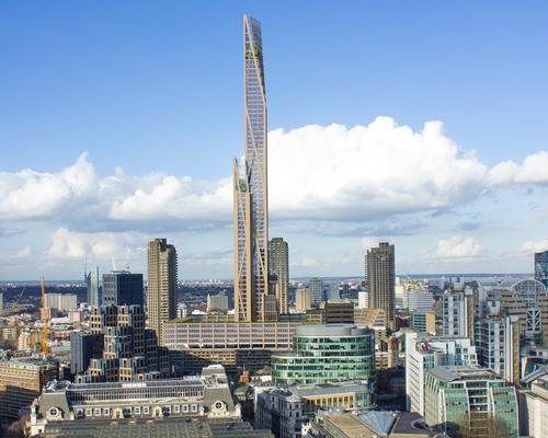 The conceptual proposals for their first tower – which would be the second tallest building in London after The Shard – include mixed-use cultural and leisure facilities and 1,000 new residential units / PLP Architecture