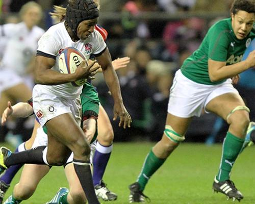 Alphonsi won 70 caps for England and the Women's Rugby World Cup in 2014 / Maggie Alphonsi official website