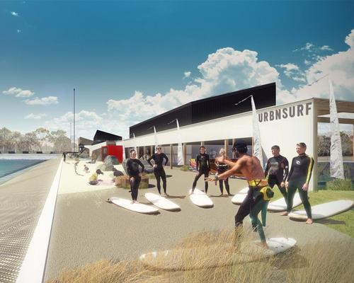 The park will have a cafe, surf shop, surf academy and beach cabanas among other leisure and sports facilities / MJA Studios/Urbnsurf
