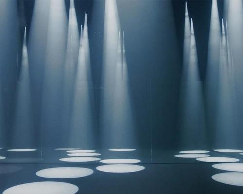 Coonical spotlights form a forest of countless abstract trees / COS