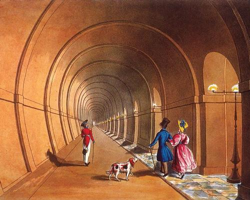 The Thames Tunnel was the first in the world to be built underwater, and provided a way for pedestrians to cross the river / Brunel Museum