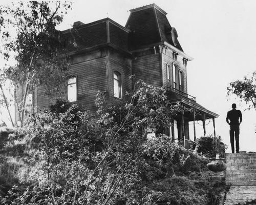 The house that featiures in Alfred Hitchcock's classic horror film Psycho influenced the shape of Parker's installation