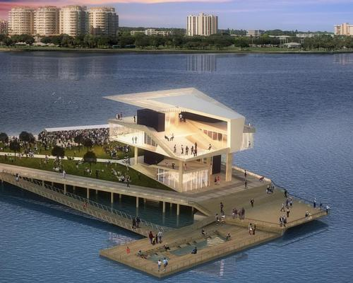 The pier will extend into Tampa Bay as the centrepiece of a new waterfront leisure district / New St Pete Pier