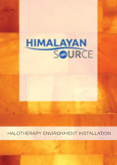 Himalayan Source: Halotherapy is very versatile in its application to a spa, and can be installed as a small section of wall to an entire backlit enclosure with heated benches. If space is limited, Himalayan salt blocks can be installed as partial walls, as framed wall décor, or added to the room as a stand-alone unit.