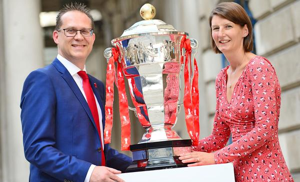 Dutton and UK Sport's Esther Britten launch 'Inspired by 2021' in London