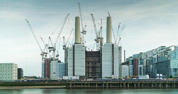 The Battersea Power Station site is currently being redeveloped