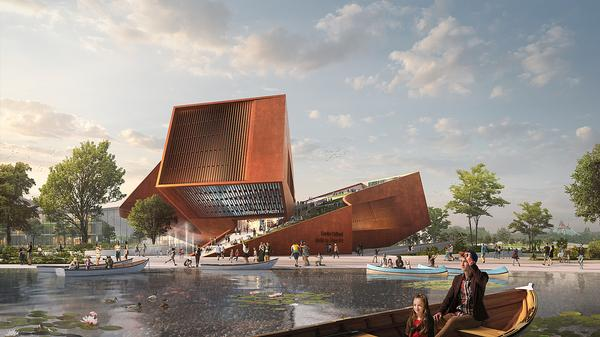 UNStudio are designing a cultural centre as part of BIG's EuropaCity development