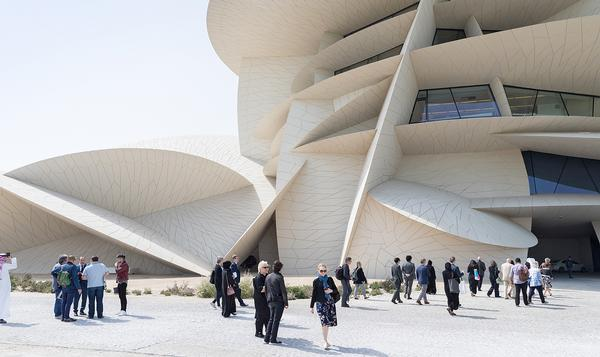 The exterior is made from a series of interlocking disks