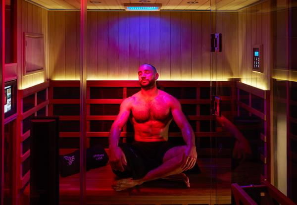 The infrared sauna is believed to promote muscle recovery, calm inflammation and boost mitochondrial function